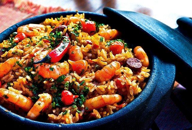 krevety s rýží