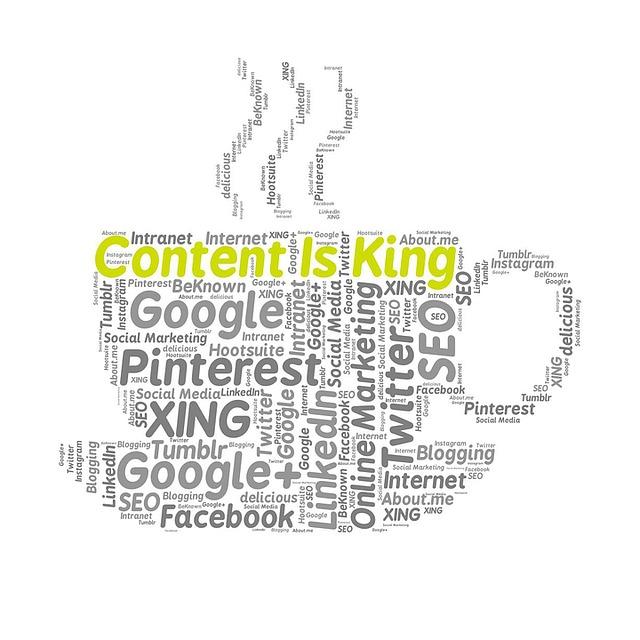 nápis obsah je král